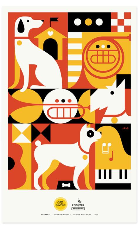 Zeus Jones - Purina ONE beyOnd - Pitchfork - Eight Hour Day #illustration #poster