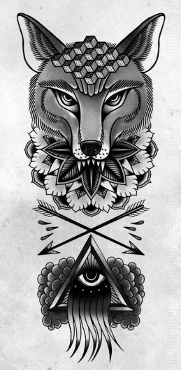TOM GILMOUR - DESIGN & ILLUSTRATION #arrows #eye #tattoo #fox