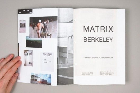 Project Projects — Matrix/Berkeley: A Changing Exhibition of Contemporary Art #layout #book #typography