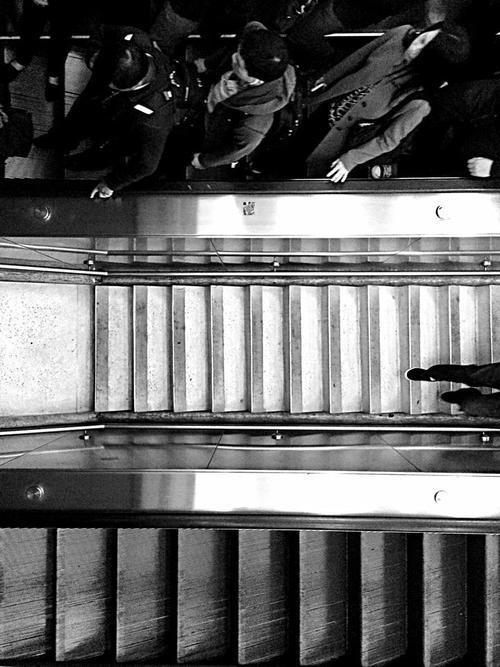 www.kayleighryleydesign.com rides the BART #commuters #san #photography #blanketcity #art #francisco #blackandwhite #california