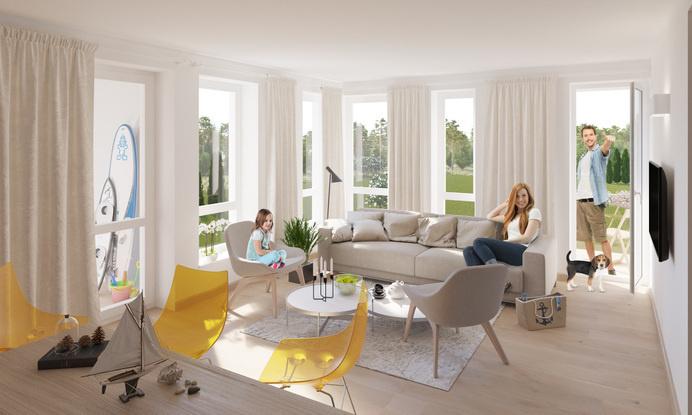 Seaside apartments - dizonaurai #interior #render