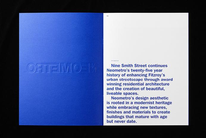 Nine Smith Street by Neometro — Studio Hi Ho #spread #print #brochure