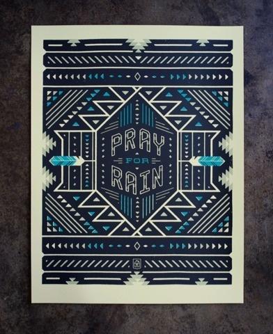 FFFFOUND! | Neighborhood Studio - ART PRINTS #print #american #geometric #blue #dark #native