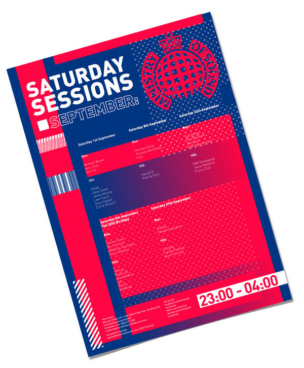 Ministry Of Sound D #amazing #pink #gradient #type #blue #typography