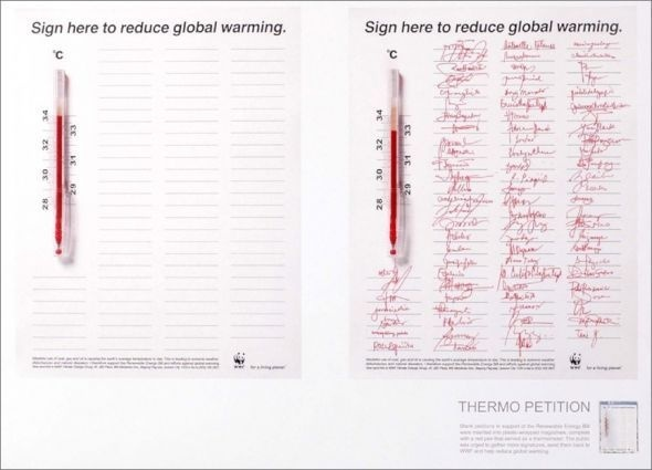 WWF global warming: Petition #print