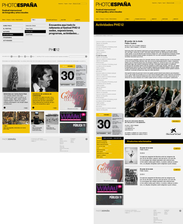 Website PHotoEspana by Erretres #website #design #web