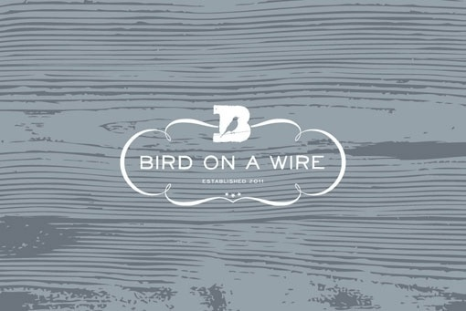 design work life » cataloging inspiration daily #emblem #bird #logo #wood #type #typography