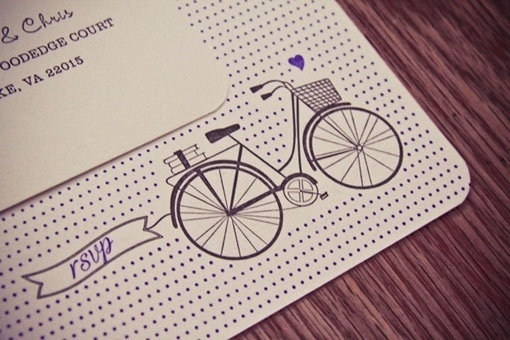 head vs. heart » #design #graphic #letterpress #invites #wedding