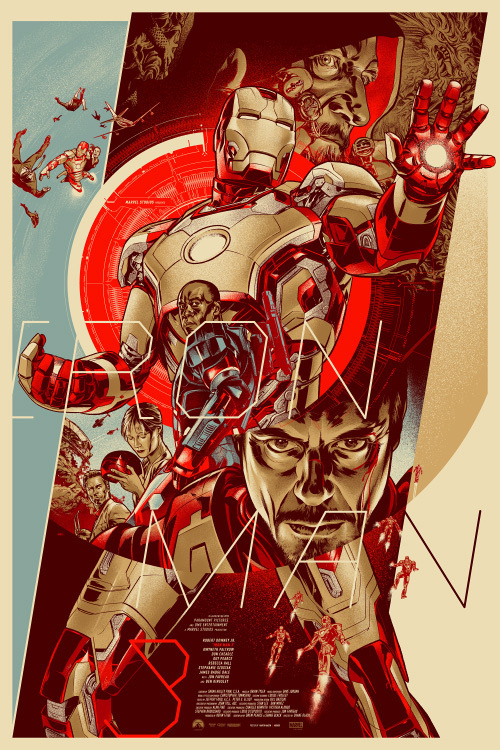 Iron Man 3 by Martin Ansin #illustration #design #graphic #art