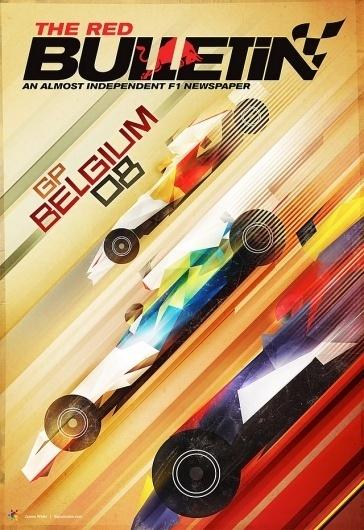 Signalnoise - The art of James White #red #signalnoise #cover #illustration #formula1 #bull #magazine