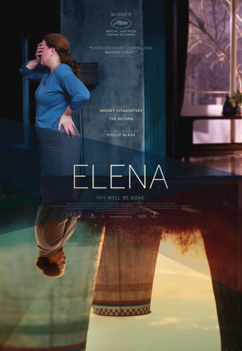 Australian poster for ELENA (Andrey Zvyagintsev, Russia, 2011) Designer: Carnival Studio Poster source: IMPAwards #film #movie #sheet #poster #one