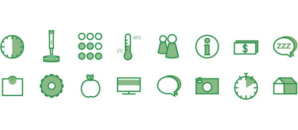 Comma #icons