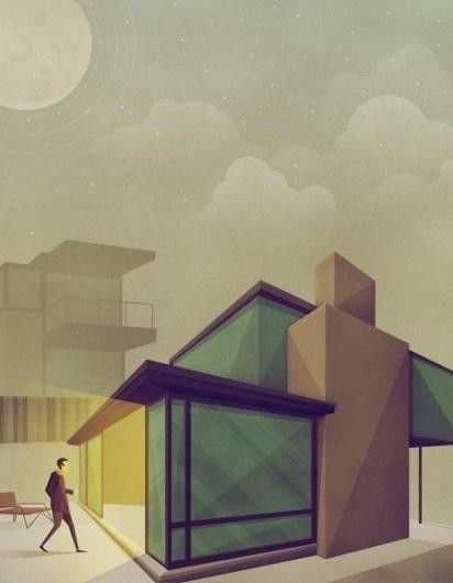 Geometric Illustration by Justin Mezzell » ISO50 Blog – The Blog of Scott Hansen (Tycho / ISO50) #illustration