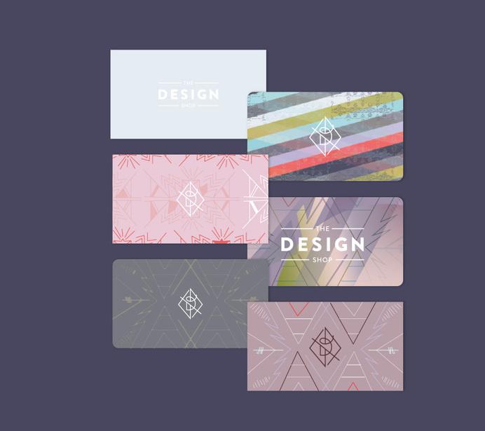 The Design Shop branding by Karli Ingersoll #pattern #cards #business #modern