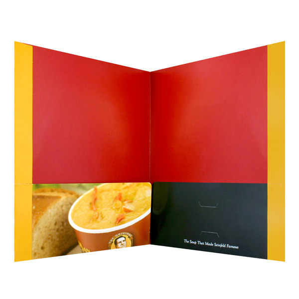 The Original Soup Man Cup of Soup Pocket Folder (Inside View) #red #soup #design #yellow #orange #pocket #hot #original #york #nyc #folder #new