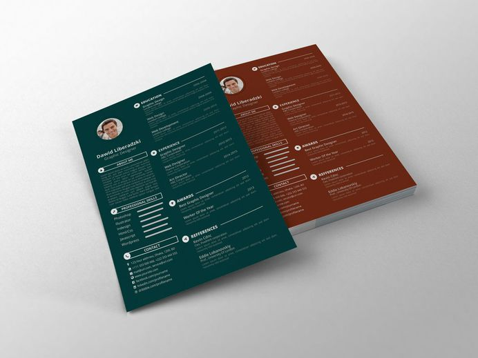 Simple CV - Free Simple CV Template With Clean Design