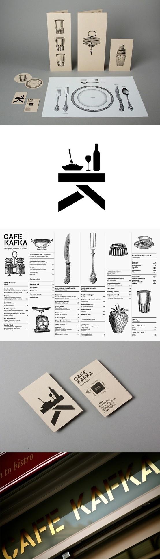 Café Kafka identity by Lo Siento, Barcalona #catering