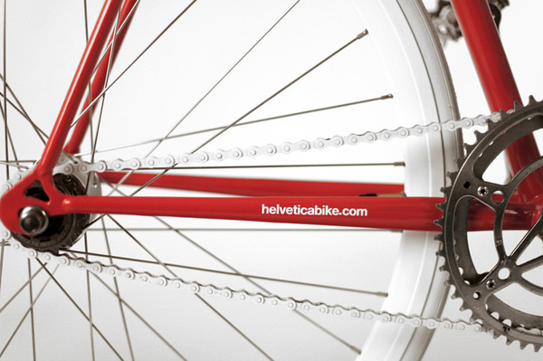 Helvetica Bike by Borja Garcia Studio #bicycle #bike #cycling #helvetica #typography