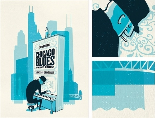 Spike Press #chicago #spike #press #poster #blues