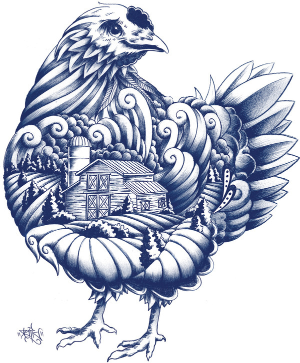 New Logo, Identity, and Packaging for Blue Goose Pure Foods by Sid Lee #packaging #blue #illustration #chicken