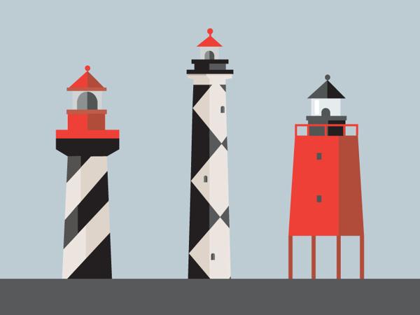 Nautical geometry on Behance #lighthouse