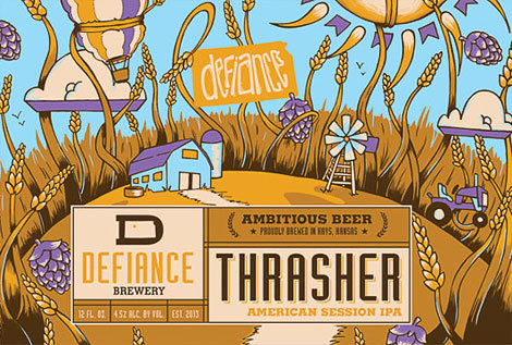 Defiance Brewery Thrasher Cans #packaging #beer
