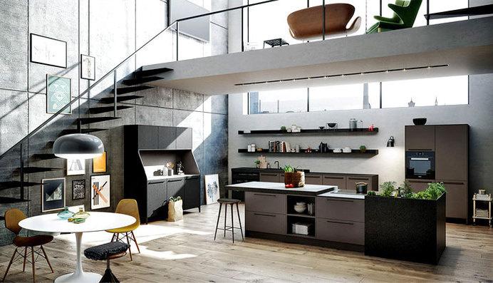 Interior Design Trends 2015 The Dark Color Schemes are Back siematic kitchen urban #colors #kitchen #dark #design
