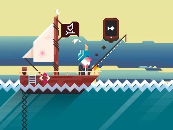 Ridiculous Fishing #graphic #illustration #ios #game #fishing