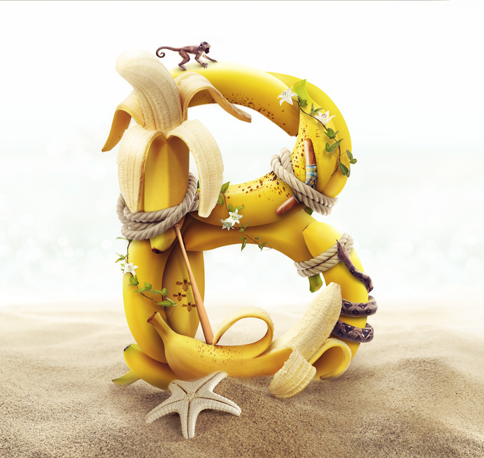 Tantalizing Type on Behance #banana