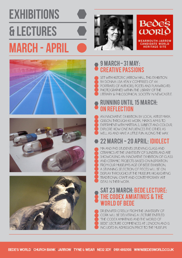 Bede's World #events #museum #flyer #design #graphic #world #exhibition #lectures #bedes #promotion #leaflet