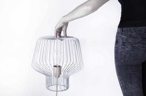 Voliera #lamp #grid #cage #gray #metal #light #grey