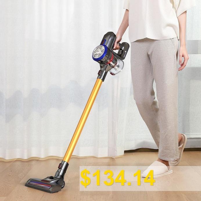 Dibea #D18 #Handheld #Vacuum #Cleaner #with #Motorized #Brush #- #GOLD