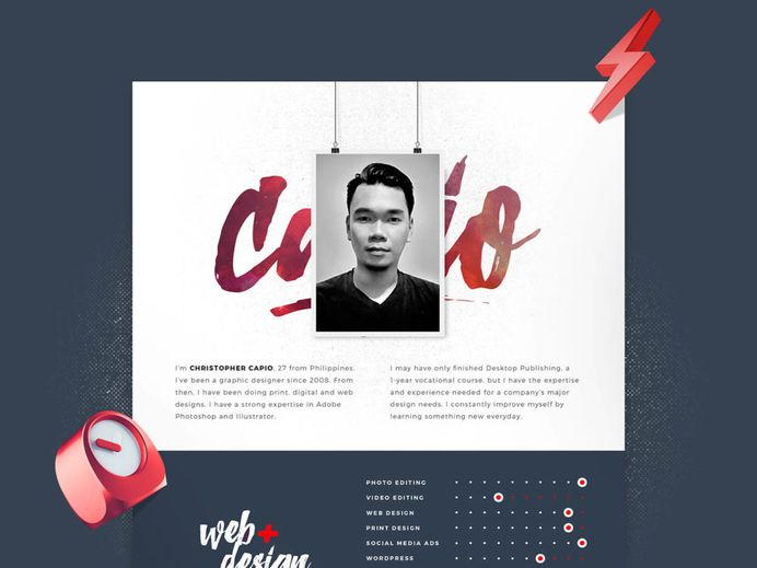 My Resume - Free Resume Template in PSD File Format