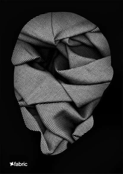 A R T U N I O N ™ #clothing #shapes #artwork #folded #face