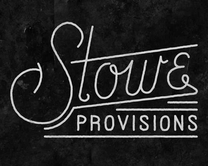 Logo work for Stowe Provisions by Nicholas Samendinger #lettering #branding #design #vintage #logo #typography