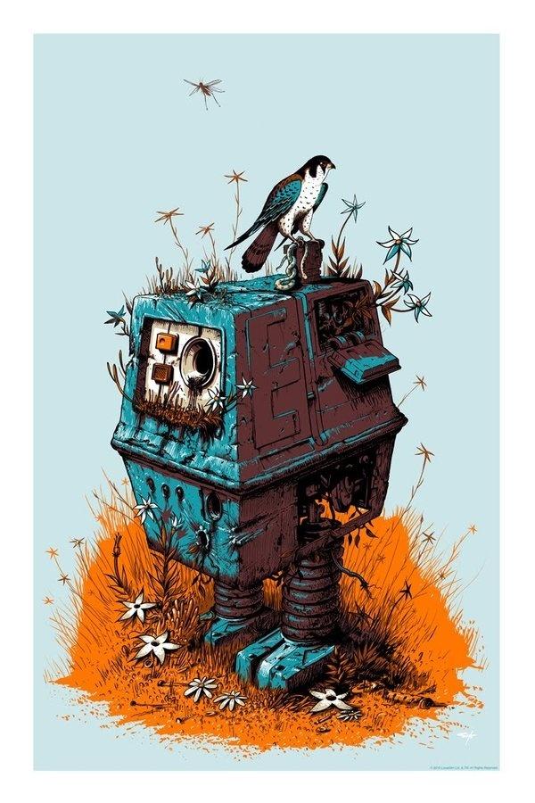 Robot - jeffsoto.com #robot #wars #bird #illustration #star