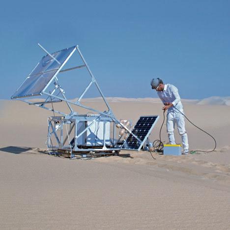 The Solar Sinter by Markus Kayser #print #glass #sand #printer #3d