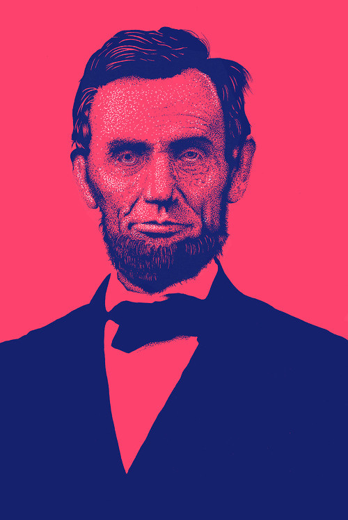 About: #lincoln #president #dots #abraham #illustration