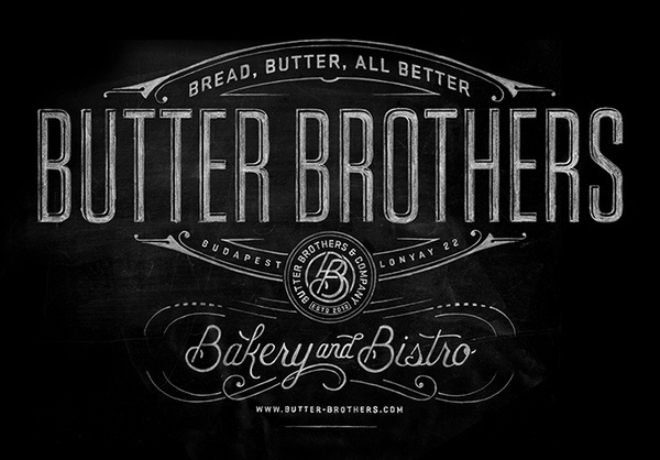 Butter Brothers #lettered #branding #chalk #identity #hand #typography