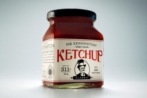 Tumblr #packaging #ketchup #vintage #typography