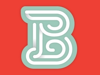 Dribbble - Typefight by John Kane Smith #letter #lettering #b #typography