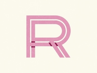 Dribbble - RR Monogram by Nate Luetkehans #monogram #shadows #typography