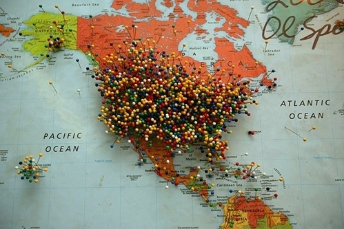 Idiots I've Met  this isn't happiness.™ #travel #map #pins