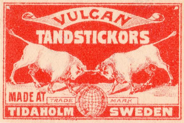 vintage sweden packaging (vulcan) #sweden #branding #print #vintage #matchbook