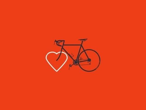 DAPHNE KARAGIANIS #red #design #illustration #bike #love