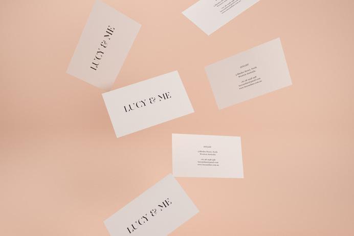 Sorbet #business #serif #design #sorbet #peach #cards