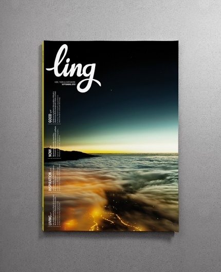 ling (updated) on the Behance Network #type #ling #magazine #sky