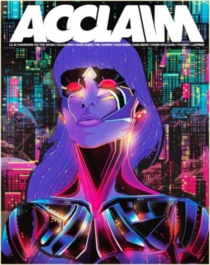 KILIAN ENG / DW DESIGN #woman #robot #acclaim #retro #geometric #glow #kilian #eng