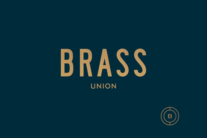 Logotype and symbol for Somerville pub and cocktail bar Brass Union designed by Oat #logo #identity