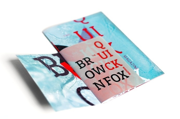 The Quick Brown Fox Magazine by Niermala B. Timmers www.niermalatimmers.com #cool #font #fold #timmers #fox #frozen #design #graphic #popup #brown #quick #niermala #art #papercraft #type #ice #folding #3d #magazine #typography